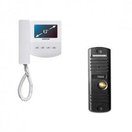 Комплект видеодомофона QUANTUM QM-433C SET